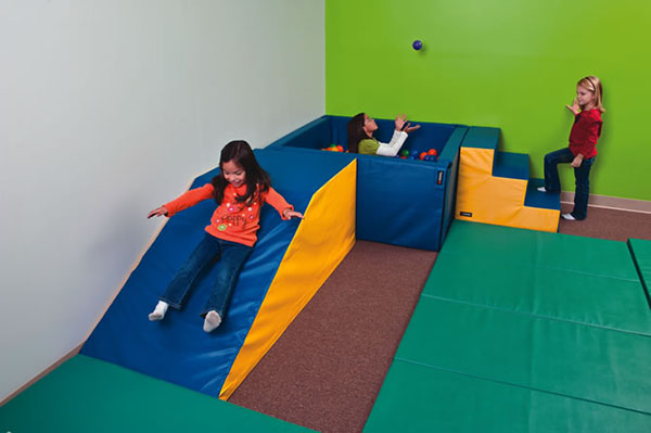 sensory slide and ball pit