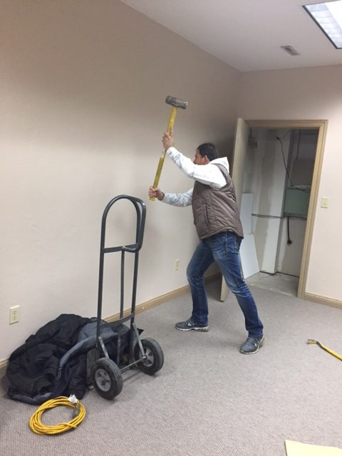 Construction Brian with Hammer 12-08-16